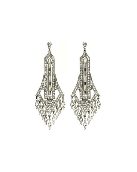 Ben-Amun Deco Chandelier Crystal Drop Earrings nbgJIy