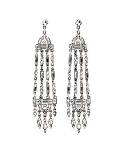 Multi-Strand Crystal Drop Earrings