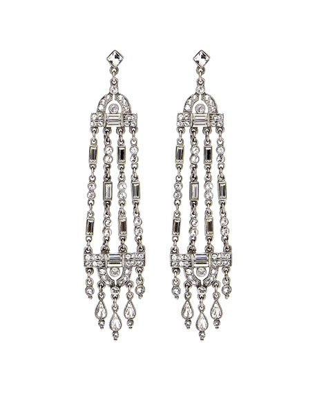 Ben-Amun Multi-Strand Crystal Drop Earrings