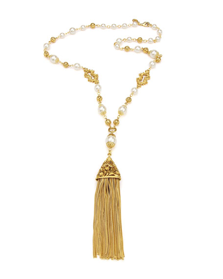 Ben-Amun Chain Tassel Pendant Necklace