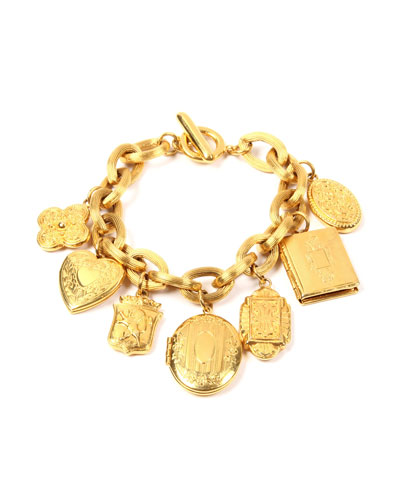 Royal Locket Charm Bracelet