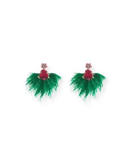 Ranjana Khan Feather Drop Earrings FKJVNg8VRh