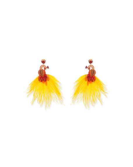 Ranjana Khan Passerine-Y Feather Drop Earrings ujGYmK