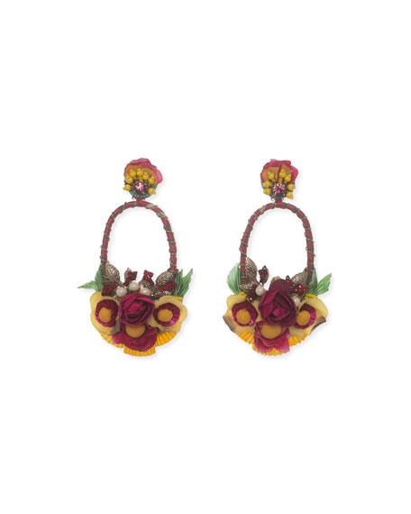 Ranjana Khan Pelican Mixed Drop Earrings CzW41ANi