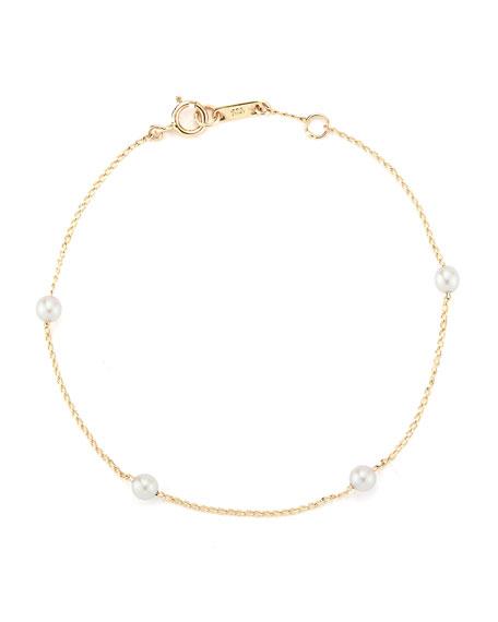 14k Four Akoya Pearl Bracelet