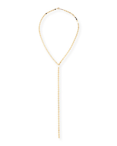 14k Nude Lariat Necklace