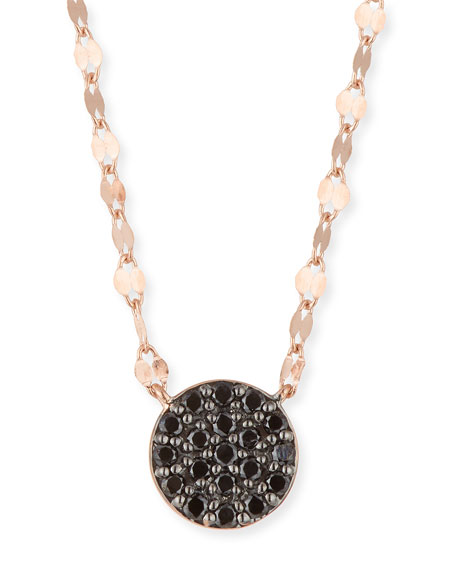 14k Reckless Black Diamond Pave Pendant Necklace