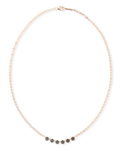 14k Reckless Black Diamond Disc Necklace