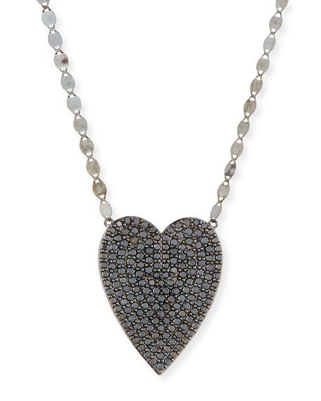 Lana 14k Reckless Black Diamond Heart Necklace