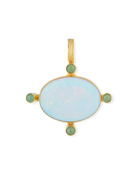 18k Opal & Chrysoprase Pendant