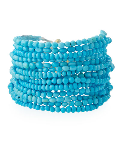 Sleeping Beauty Turquoise Magnetic Multi-Strand Bracelet