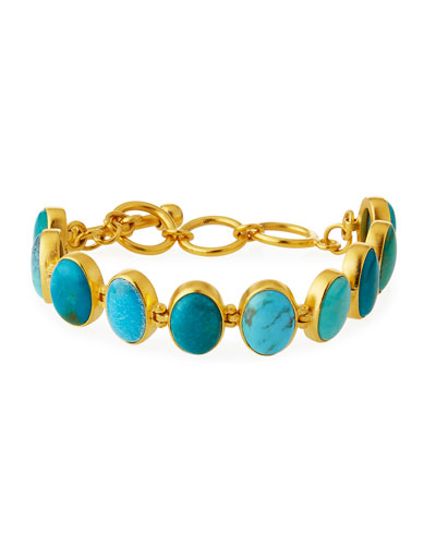 Multihued Turquoise Bracelet