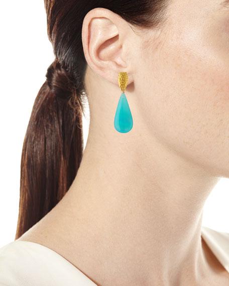 Super Fine Agate Teardrop Earrings
