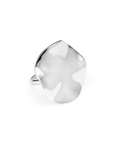 Classico Wavy Disc Ring