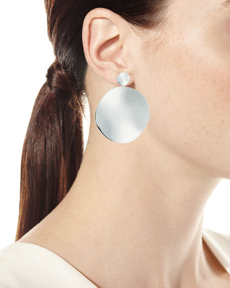 925 Classico Large Wavy Disc Snowman Earrings