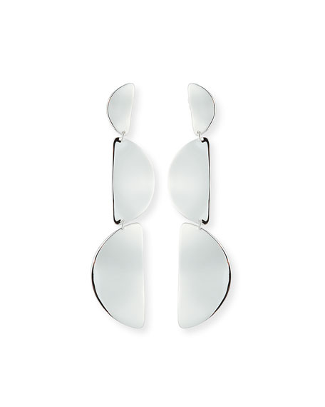 925 Classico Wavy Half-Disc 3-Drop Earrings