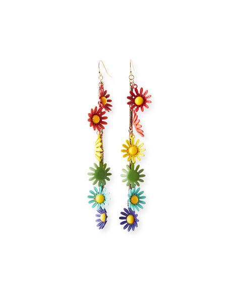 Moorea Multicolor Daisy Drop Earrings