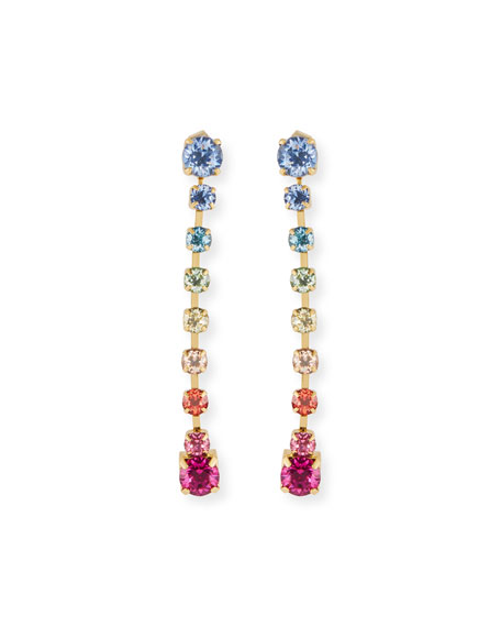 Lulu Frost Rainbow Linear Drop Earrings