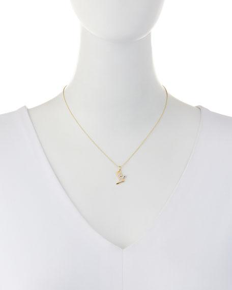 14k Diamond Cowboy Boot Pendant Necklace