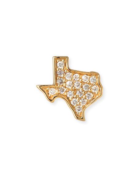 Sydney Evan 14k Diamond Texas Single Stud Earring