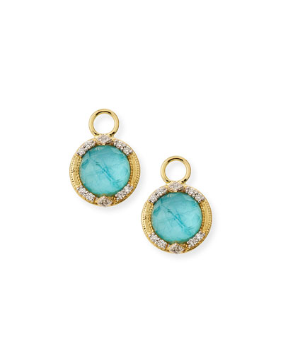 18k Lisse Round Triple Earring Charms