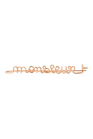 Atelier Paulin Personalized 10-Letter Wire Brooch, Rose Gold Fill