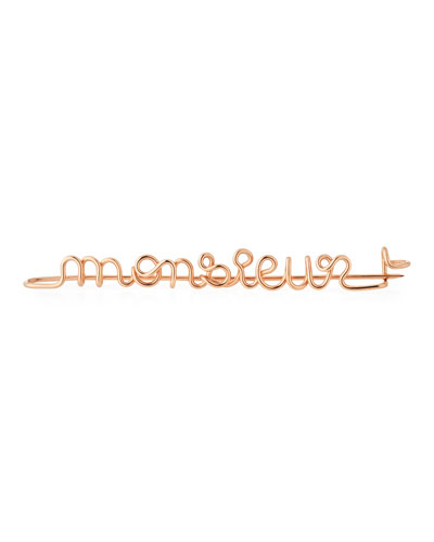 Personalized 15-Letter Wire Brooch, Rose Gold Fill