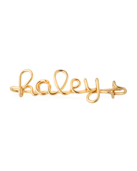 Atelier Paulin Personalized 15-Letter Wire Brooch, Yellow Gold Fill