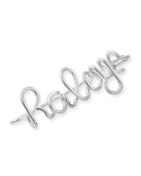 Atelier Paulin Personalized 15-Letter Wire Brooch, Silver
