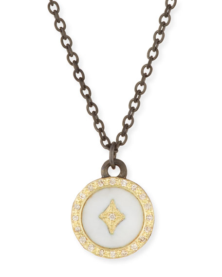 Old World 18k Diamond Star Pendant Necklace