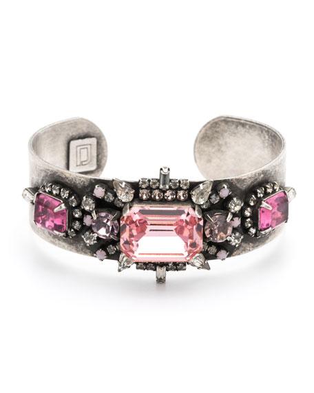 Dannijo Lauderette Crystal Cuff Bracelet