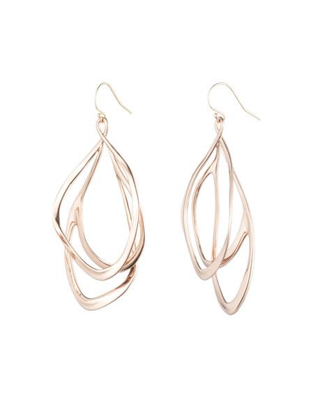 Orbit Wire Drop Earrings, Rose-Tone