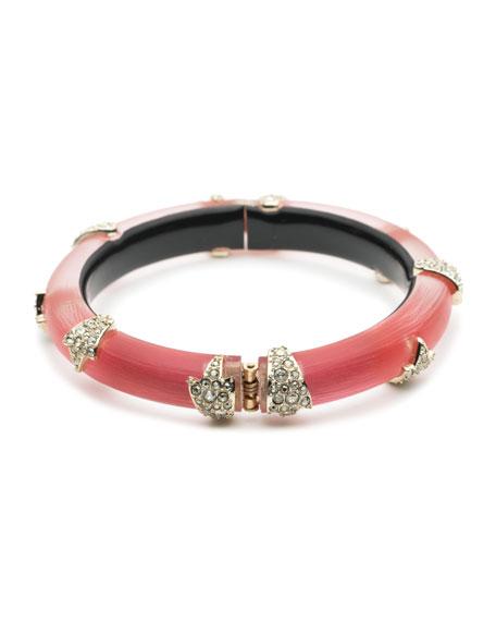 Crystal Encrusted Skinny Studded Hinge Bracelet