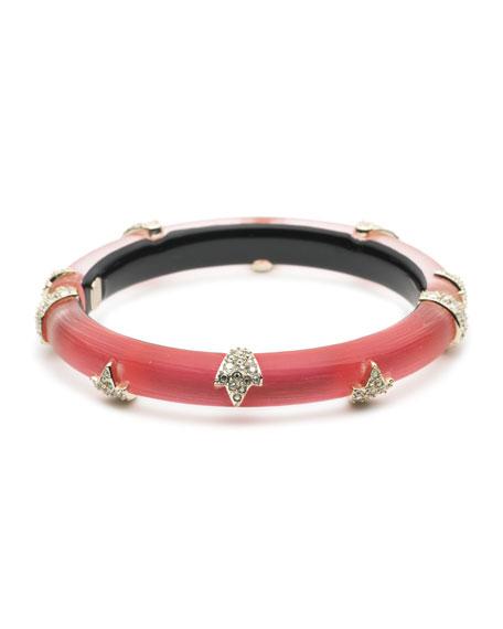 Alexis Bittar Crystal Encrusted Skinny Studded Hinge Bracelet