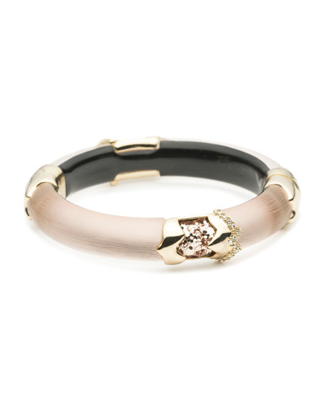Alexis Bittar Crystal Encrusted Glitter Segmented Bracelet