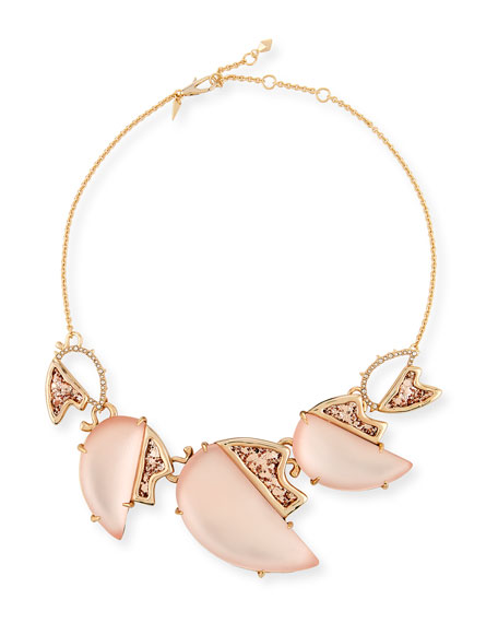 Alexis Bittar Abstract Tulip Glitter Bib Necklace