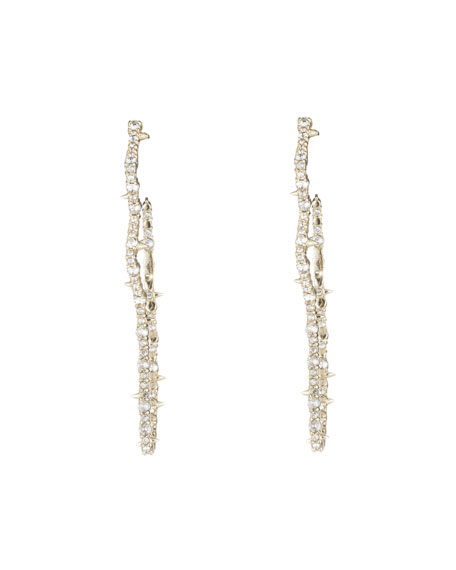 Alexis Bittar Crystal Encrusted Tulip Hoop Earrings