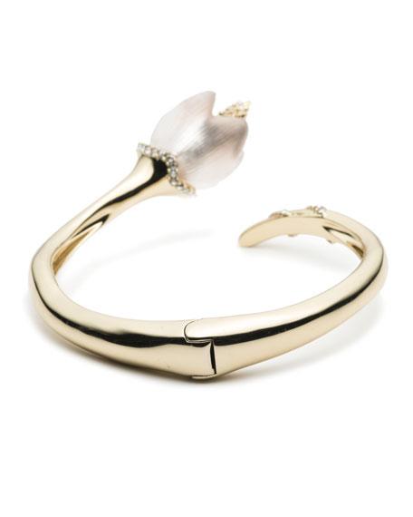 Crystal Encrusted Tulip Bypass Bracelet