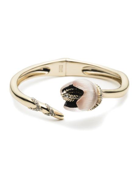 Alexis Bittar Crystal Encrusted Tulip Bypass Bracelet