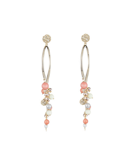 Alexis Bittar Crystal Encrusted Beaded Arc Cluster Earrings