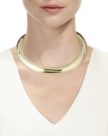 Large Sculptural Metal Collar Necklace