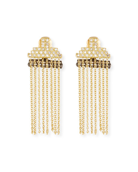 Armenta Old World Petite Stacked Bar Chain Earrings