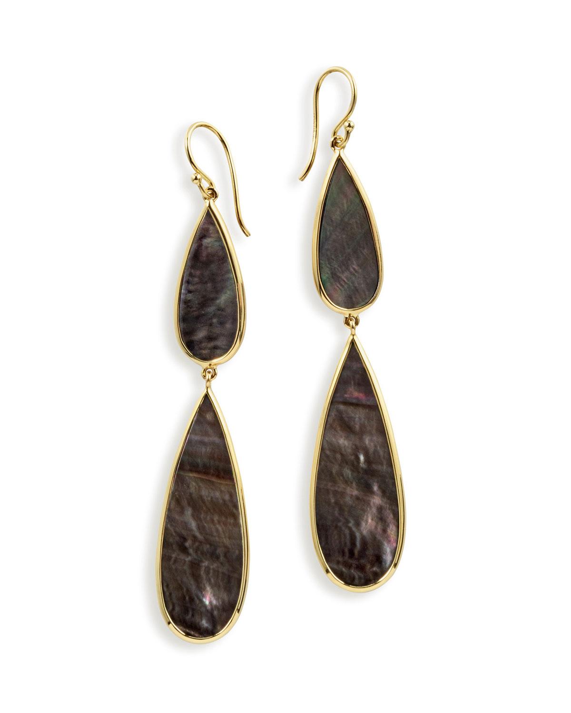 Ippolita 18K Polished Rock Candy Multi-Pear Earrings in Black Shell LDAdsnFVm5