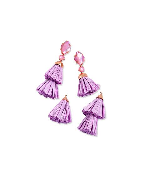Denise Tassel-Drop Statement Earrings