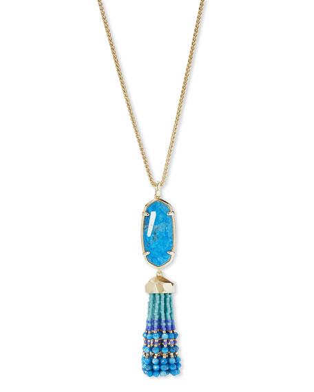 """Eva Adjustable Tassel Pendant Necklace, 32"""""""