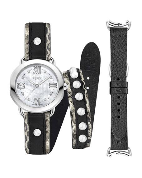 36mm Selleria Watch Set w/ Diamonds