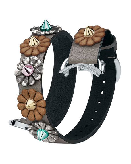 17mm Selleria Leather Flower Stud Watch Strap