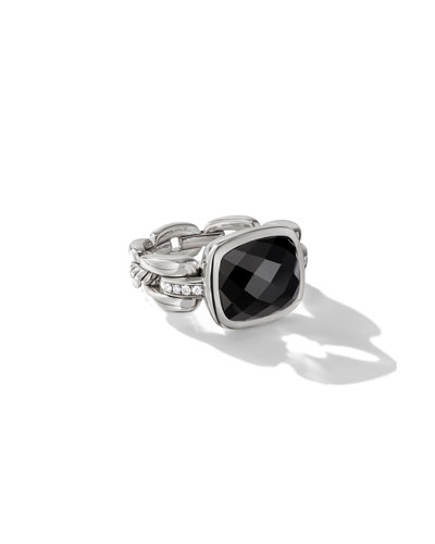 Wellesley Silver Color Ring w/ Black Onyx
