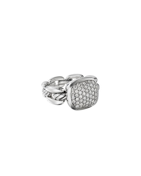 David Yurman Wellesley Link Diamond Pave Ring