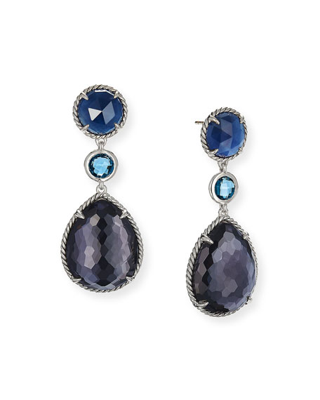 David Yurman Chatelaine Teardrop Earrings with Amethyst